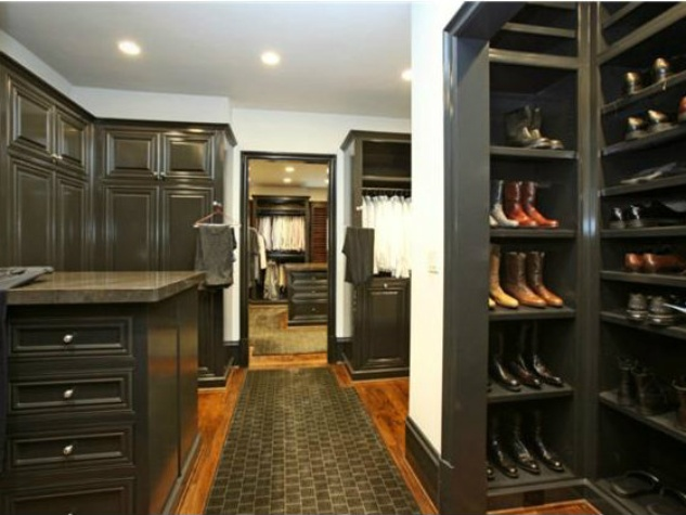 Master closet at 3801 Normandy Ave. in Dallas