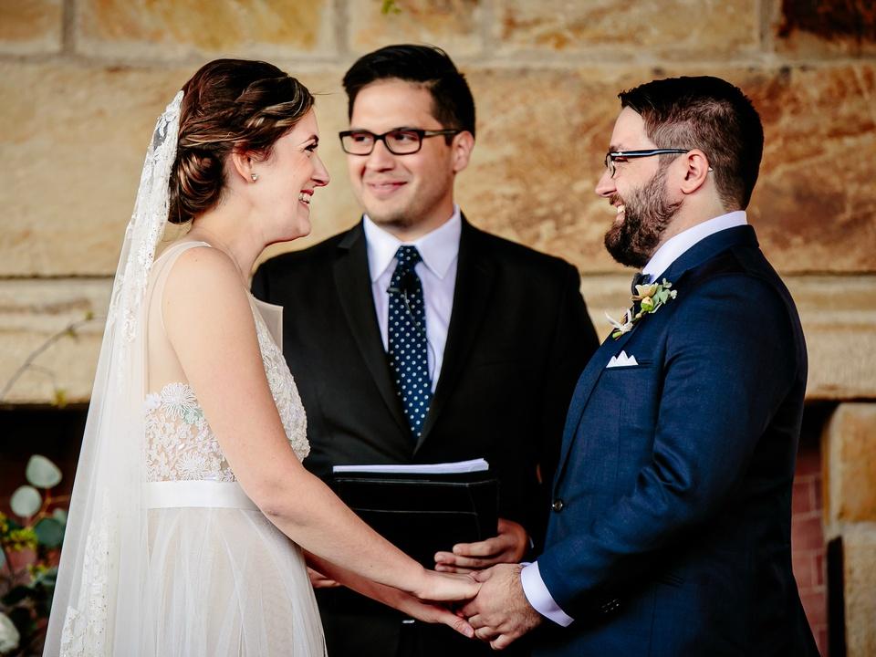Wedding Maggie Bang and Austen Miller Fredericksburg Boot Ranch bride groom vows