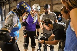 Texas rollergirls behind the scenes