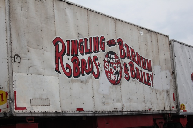 Ringling Bros. Circus, Arriving in Town, Train Logo, July 2012