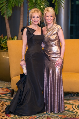 Leisa Holland Nelson and Suzan Deison at the Winter Ball January 2015