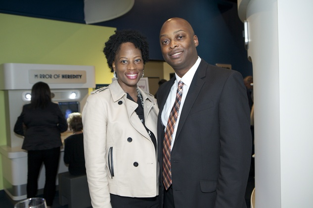 1235 Sherise Curd and Jarrett Simmons at the Passport to the World wine and food event at The Health Museum October 2014