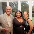 Arthur Bracey, from left, Charlene Tombar and Annette Bracey at the Da Camera Jason Moran launch party September 2014