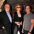 5 Jerald Broussard, from left, Frann Lichenstein and Robert Davenport at the Dress for Dinner kickoff in new David Peck Showroom September 2014