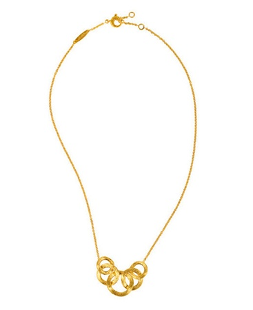 Marco Bicego 5 Link Front Chain Necklace in YG