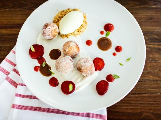 Steven Cak dessert at Olive and June restaurant in Austin