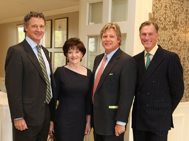 15 Mark McMurrey, from left, Beth Sanders Moore, Ted Kennedy Jr. and Bill Hamilton at the CancerForward luncheon November 2013