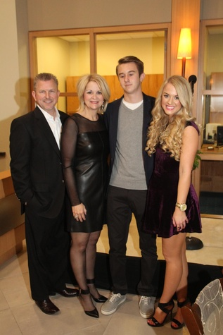 3 Terry and Cherry Sears, from left, Taylor Sears and Samantha Sears at the Mercedes-Benz of Sugar Land Cystic Fibrosis Event October 2014