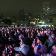 Crowds at Super Bowl Live