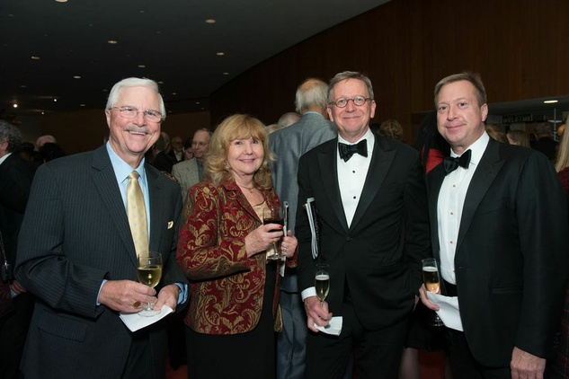 Charles and Jacqueline Bertrand with John Turner and Jerry Fischer