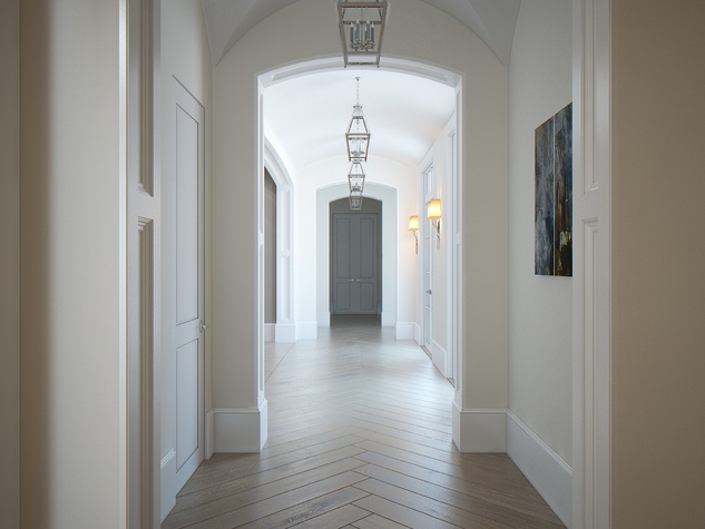 Houston, News, Shelby, Sudhoff Hampton Lane Collection, April 2015, 6018 Pine Forest - hallway