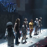 The cast of Hit the Wall at WaterTower Theatre