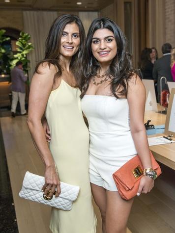 23 Sabiha Rehmatulla, left, and Aziza Rehmatulla at Best Buddies with Tom Brady May 2014