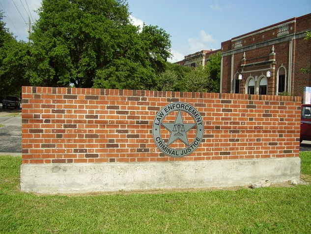 High School ForLaw Enforcement and Criminal Justice building and sign Houston