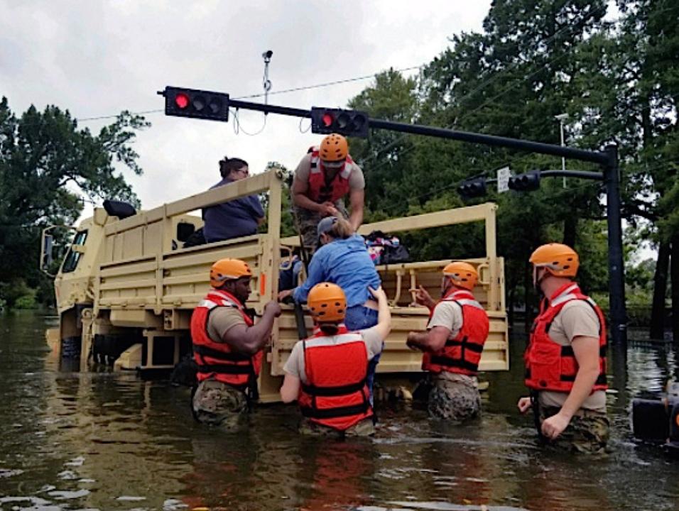 Houston, Hurricane Harvey, flood photos, rescue crew