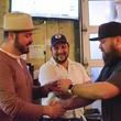 Eight Row Flint Pappy Van Winkle tasting Morgan Weber handshake