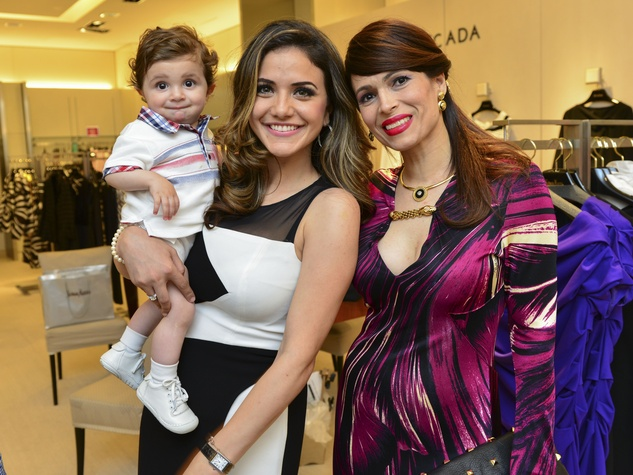 4 Alexander Akle, from left, Miriam Habib and Karina Barbieri at the International Mother's Day Soiree May 2014