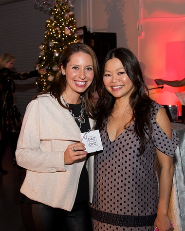 Brooke Schmitt and Chloe Dao at Woodlands Fashion preview party