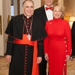 Cardinal Daniel DiNardo, from left, with Bob and Marianne Ivany at the University of St. Thomas Mardi Gras March 2014