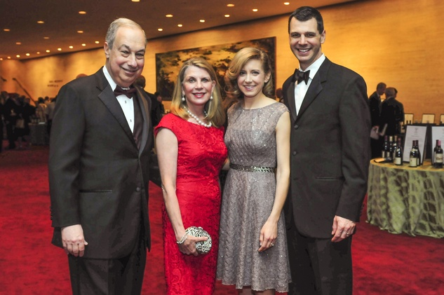 Bob and Nancy Peiser, from left, and Christina and Mark Hanson at the Houston Symphony Wine Dinner March 201