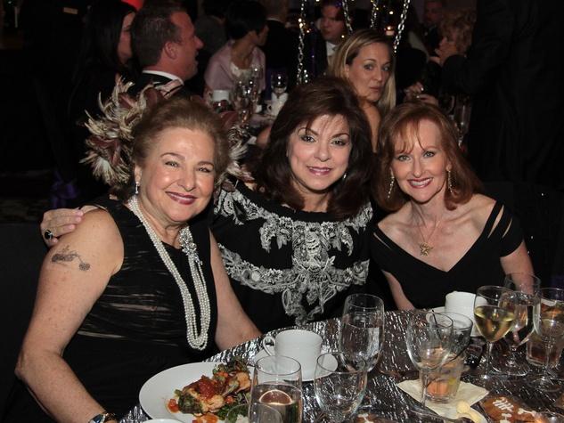 Baylor College of Medicine Gala, April 2013, Joann Crassas, Laura Ward, Carol Sawyer