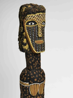Tess Tipungwuti, Australian (Tiwi, Tiwi Islands), n.d., Bima (detail), 2006, Ironwood with natural ochre pigments, h. 57 in.; w. 7 in., Gift of the Lam Family, 2016.14.37