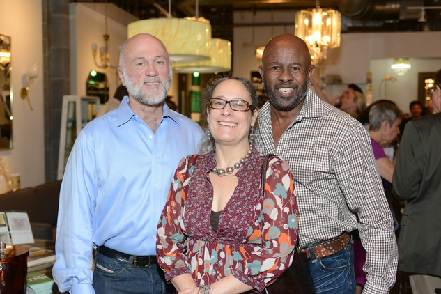 9 Dave Walling, from left, Amy Dudley Smith and Leonard McDonald at the Houston Antique + Art + Design Show September 2014