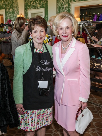 13 Debby Leighton, left, and Carolyn Mann at the Salvation Army luncheon April 2014