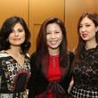 Xiaojun Wang, Diana Sun, and Jessica Hernandezat the Houston Grand Opera Ball luncheon February 2014