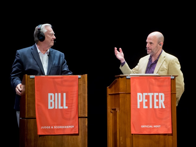Peter Sagal and Bill Kurtis Wait Wait Don't Tell Me at San Francisco's Nourse Theater July 2014
