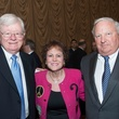 Kelly Frels, from left, Regina Rogers and Shrub Kempner at the Center for Houston's Future luncheon March 2015