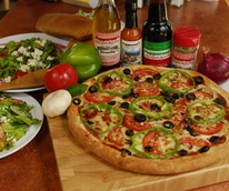 Pepperoni's Pizza with salads