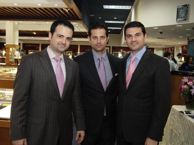 3334, Zadok Jewelers, grand wedding band event, March 2013, Gilad, Jonathan and Segev Zadok