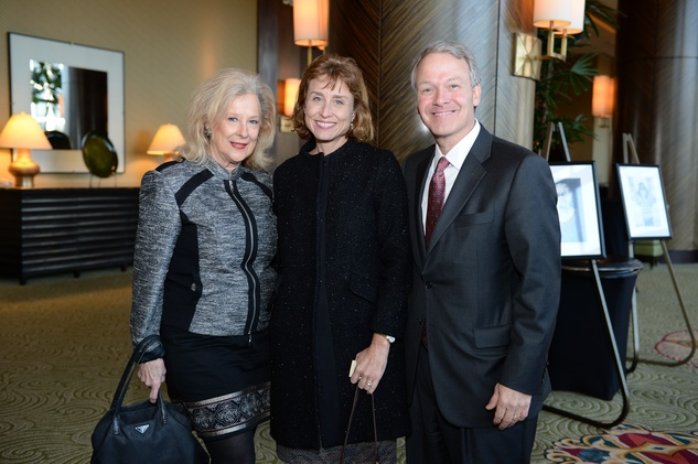 Mary Ann McKeithan, from left, with Julie and Marc Boom at the El Centro de Corazon luncheon March 2015