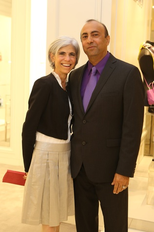 Judy Nyquist and Ron Baloochi at the CancerForward Key To The Cure Kick-off October 2014