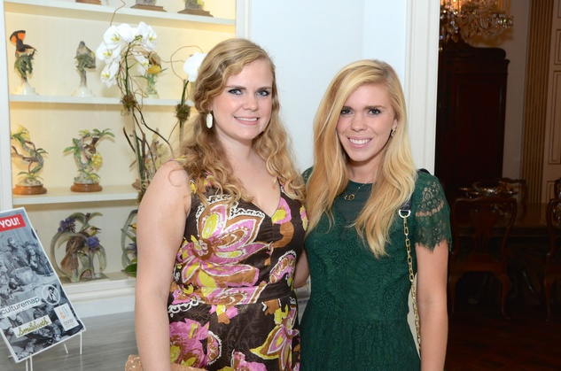 Sarah Brents, left, and Emily Brents at the Rienzi Punch Party October 2014