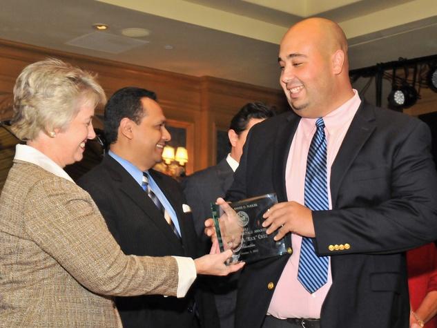 2012 Mayor's Hispanic Heritage Awards Ceremony, October 2012, Mayor Annise Parker, Ed Gonzalez, Rick Cruz