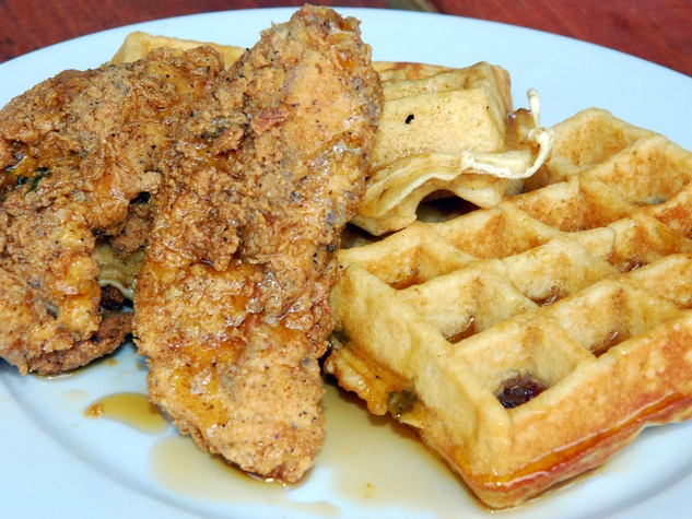 Gluten-free chicken and waffles at Company Cafe. Photo by Melisa ...