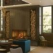 A rendering of Hotel Van Zandt's lobby