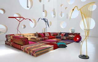 Roche Bubois Mah Jong sofas and pillows by Hans Hopfer 1970