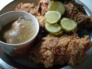 Fried chicken at Chicken Scratch restaurant in Dallas