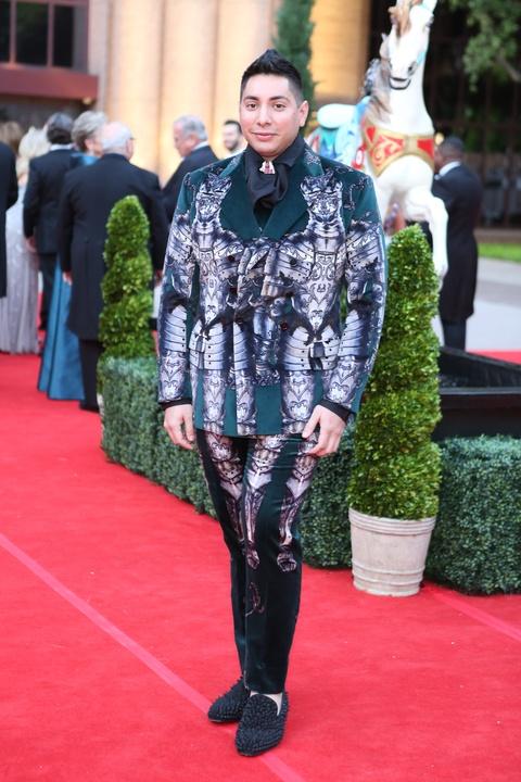 Houston, Opera Ball Gowns, April 2016,  Christian Miranda in Dolce & Gabbana.