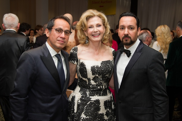 Agustín Arteaga, from left, Karen McRae and Carlos González Jaime at the MFAH Latin American Experience November 2013