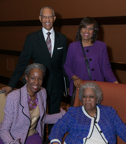 Cheryl Lawson, from left, William Lawson, Melanie Lawson and Audrey Lawson at the Center for Houston's Future luncheon March 2015