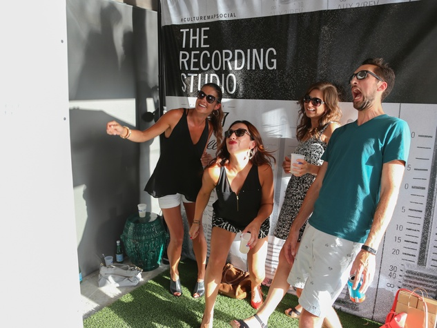 CultureMap Social The W Hotel Wet Deck Cadillac Smilebooth Photo Booth