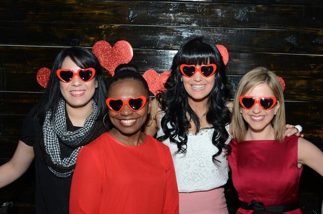 5 36 Ana Ortiz, from left, Deandrea Dillard, Tiffany Halik and Margot Delaronde at the American Heart Association Bachelor Party February 2014.