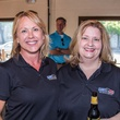 Judy Rawlinson, Margaret LeDeere at Carry The Load fundraiser dinner at Pecan Lodge