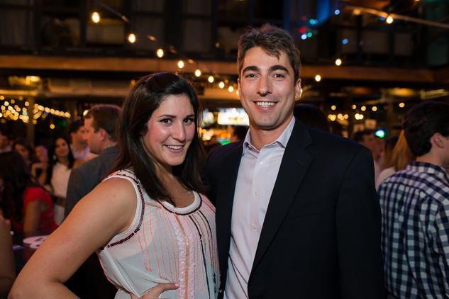 Karoline Bowen and Colin Hughes at the RedBuds Membership Drive October 2014