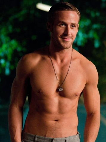 Ryan Gosling shirtless in Crazy Stupid Love