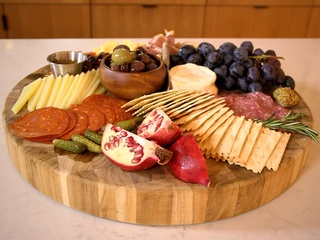 Whole Food cheese and charcuterie plate